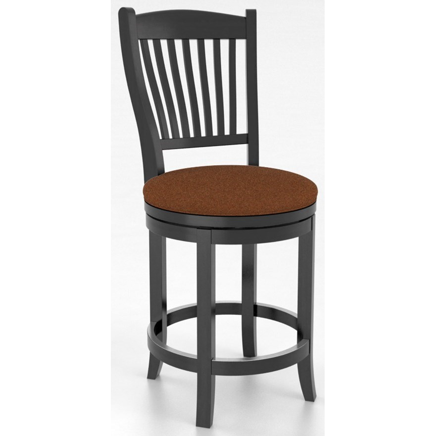 """Core - Custom Dining Customizable 26"""" Swivel Stool by Canadel at Dinette Depot"""