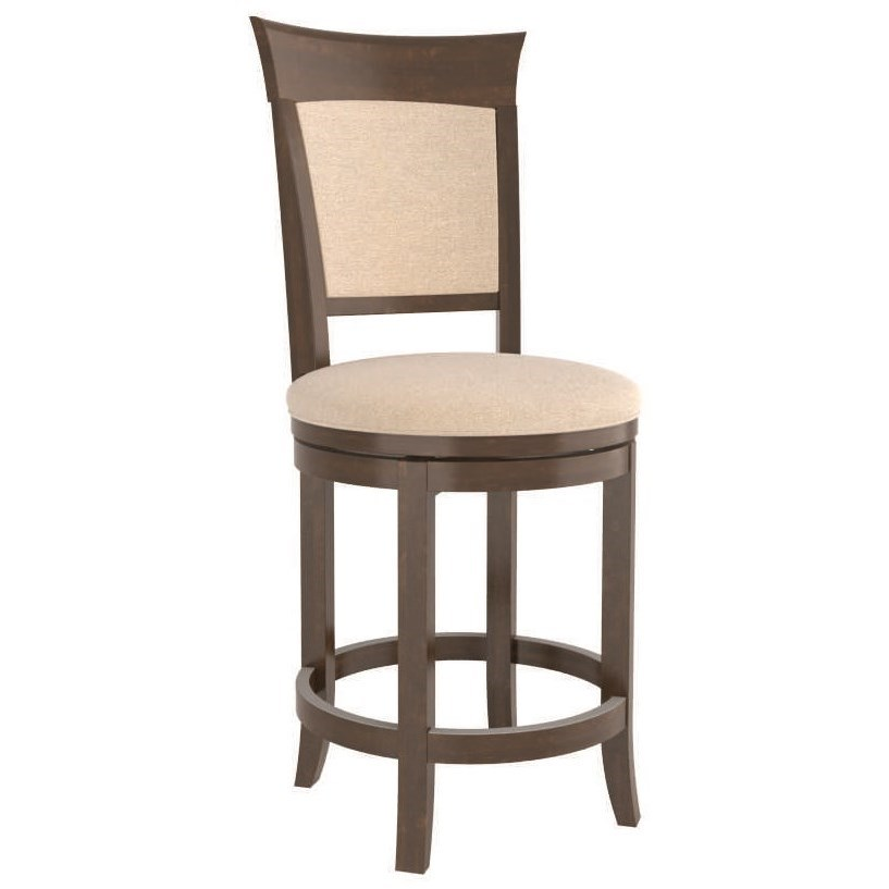 Core - Custom Dining Customizable Counter Swivel Stool by Canadel at Dinette Depot