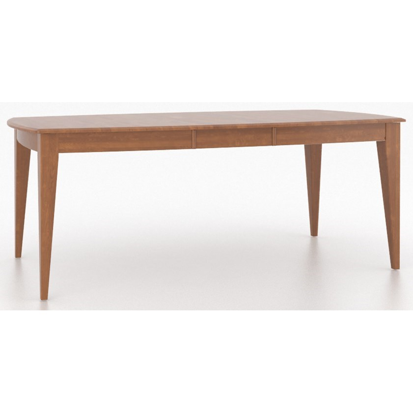 Core - Custom Dining Customizable Boat Shape Dining Table by Canadel at Dinette Depot