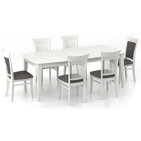 Core - Custom Dining 7-Piece Table Set by Canadel at Dinette Depot