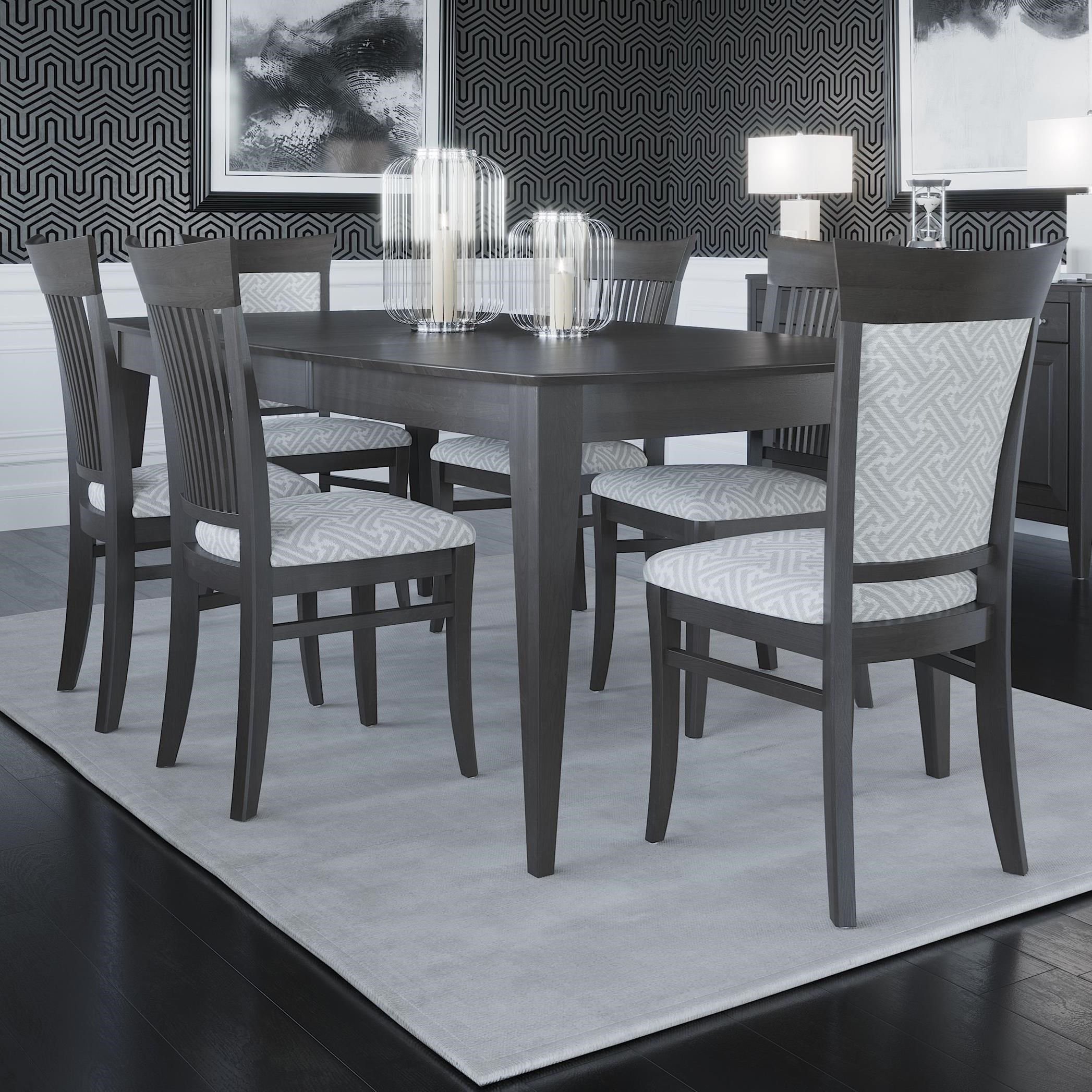 Core - Custom Dining Customizable Boat Shape Dining Table Set by Canadel at Jordan's Home Furnishings