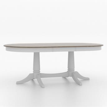 Core - Custom Dining Customizable Oval Dining Table by Canadel at Dinette Depot