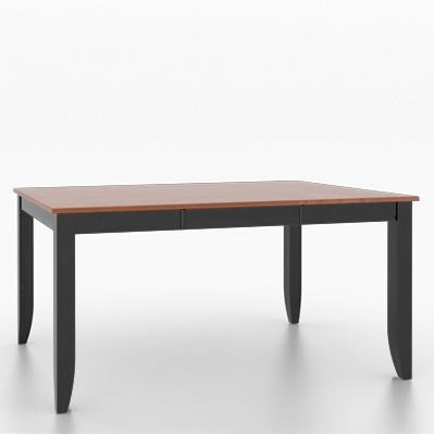 Core - Custom Dining Customizable Square/Rectangular Dining Table by Canadel at Dinette Depot