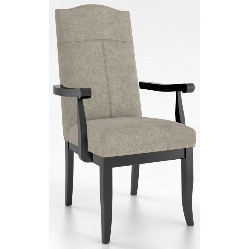 Custom Dining Customizable Arm Chair by Canadel at Dinette Depot