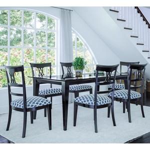 Customizable Rectangular Dining Table Set