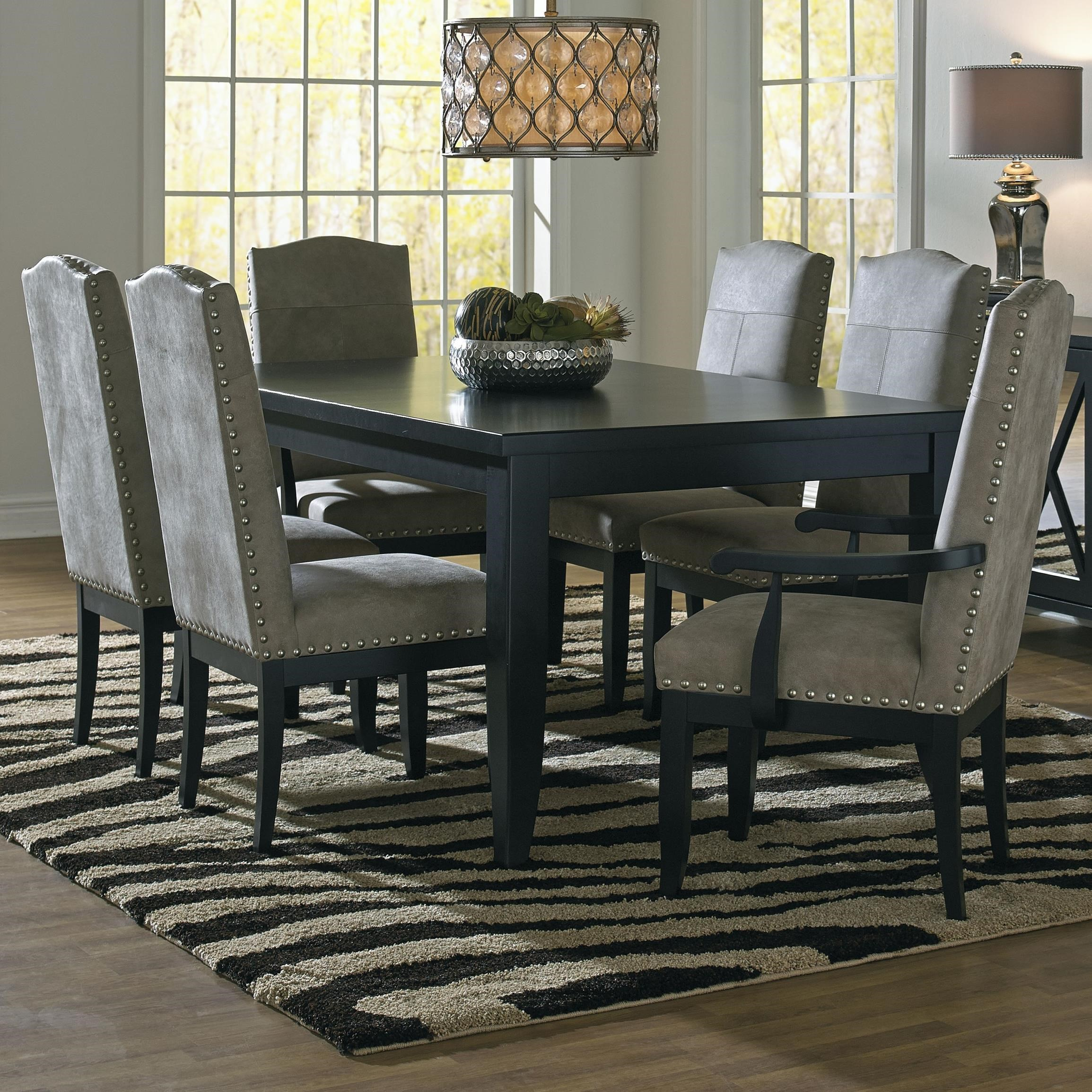 Custom Dining Customizable Rectangular Dining Table Set by Canadel at Dinette Depot