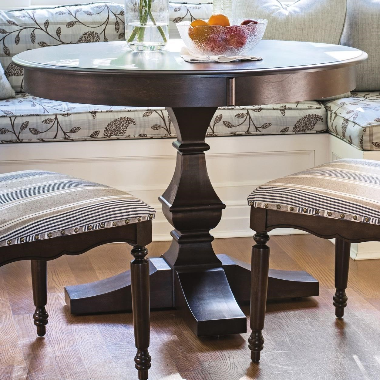Custom Dining Customizable Round Dining Table by Canadel at Dinette Depot