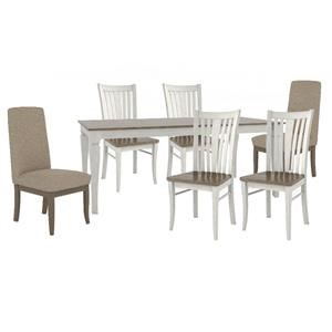 TABLE, 4 SIDE Chairs and 2 Upholster Chair