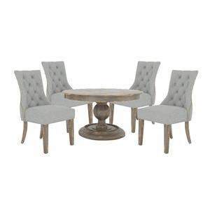 """54"""" Round Table and 4 Upholster Chair"""