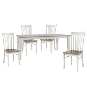 """38"""" X 60"""" TABLE And 4 SIDE CHAIRS"""