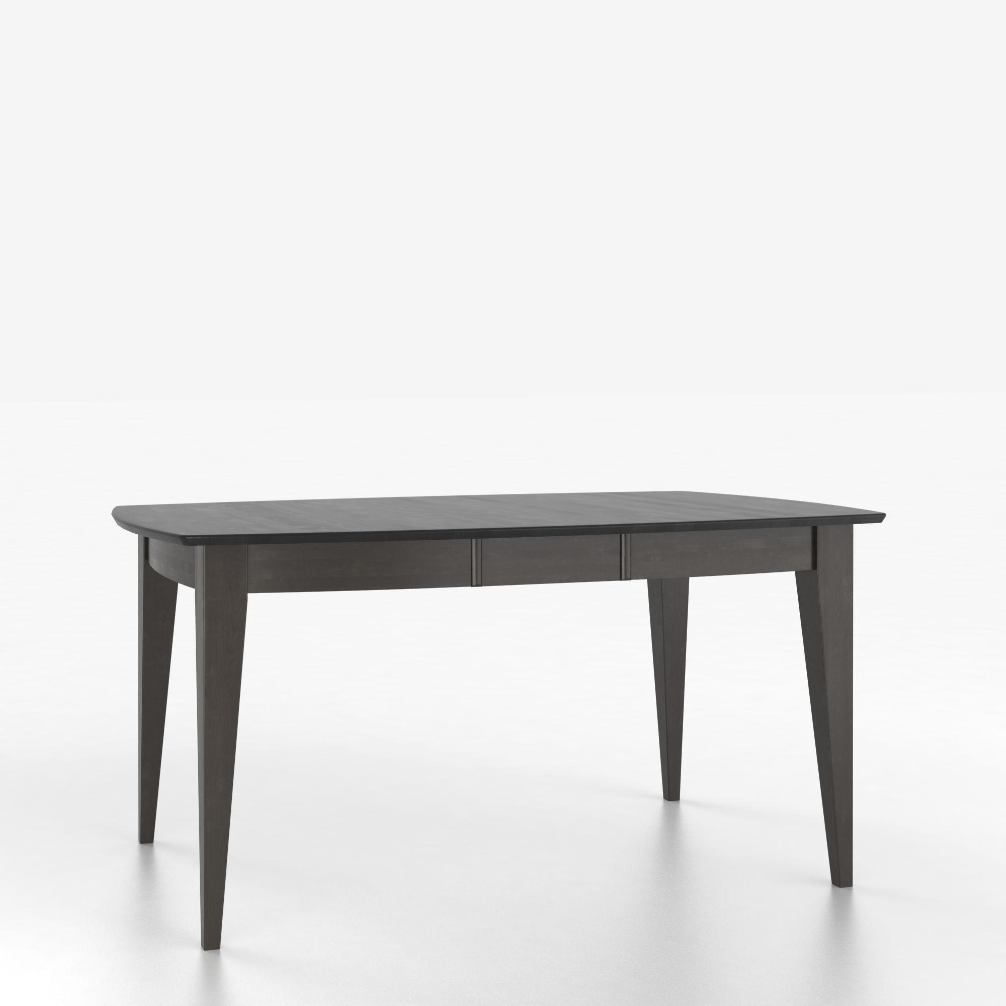 Custom Dining Tables Customizable Boat Shape Table with Legs by Canadel at Dinette Depot