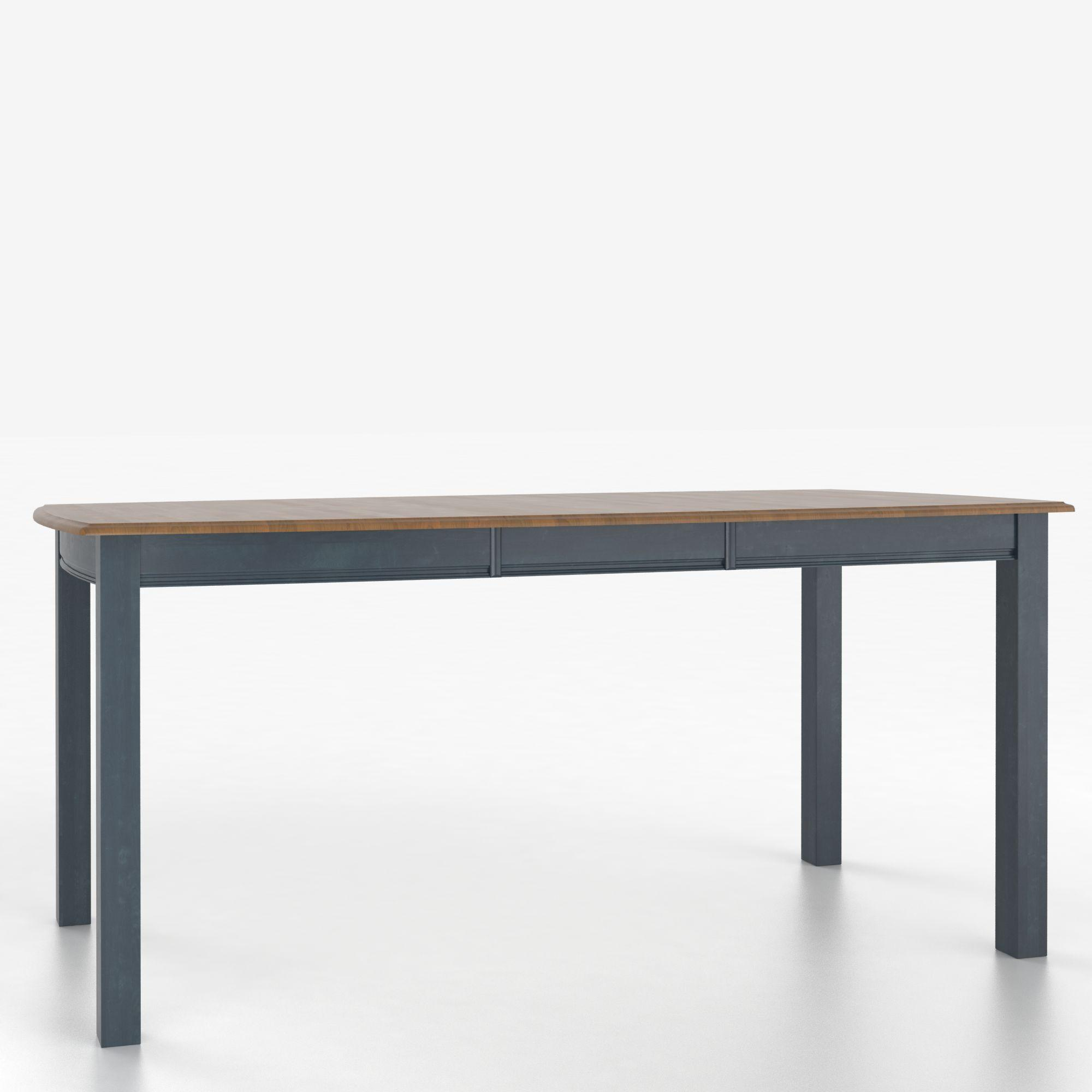 Custom Dining Counter Height Tables Customizable Boat Shape Counter Table by Canadel at Dinette Depot