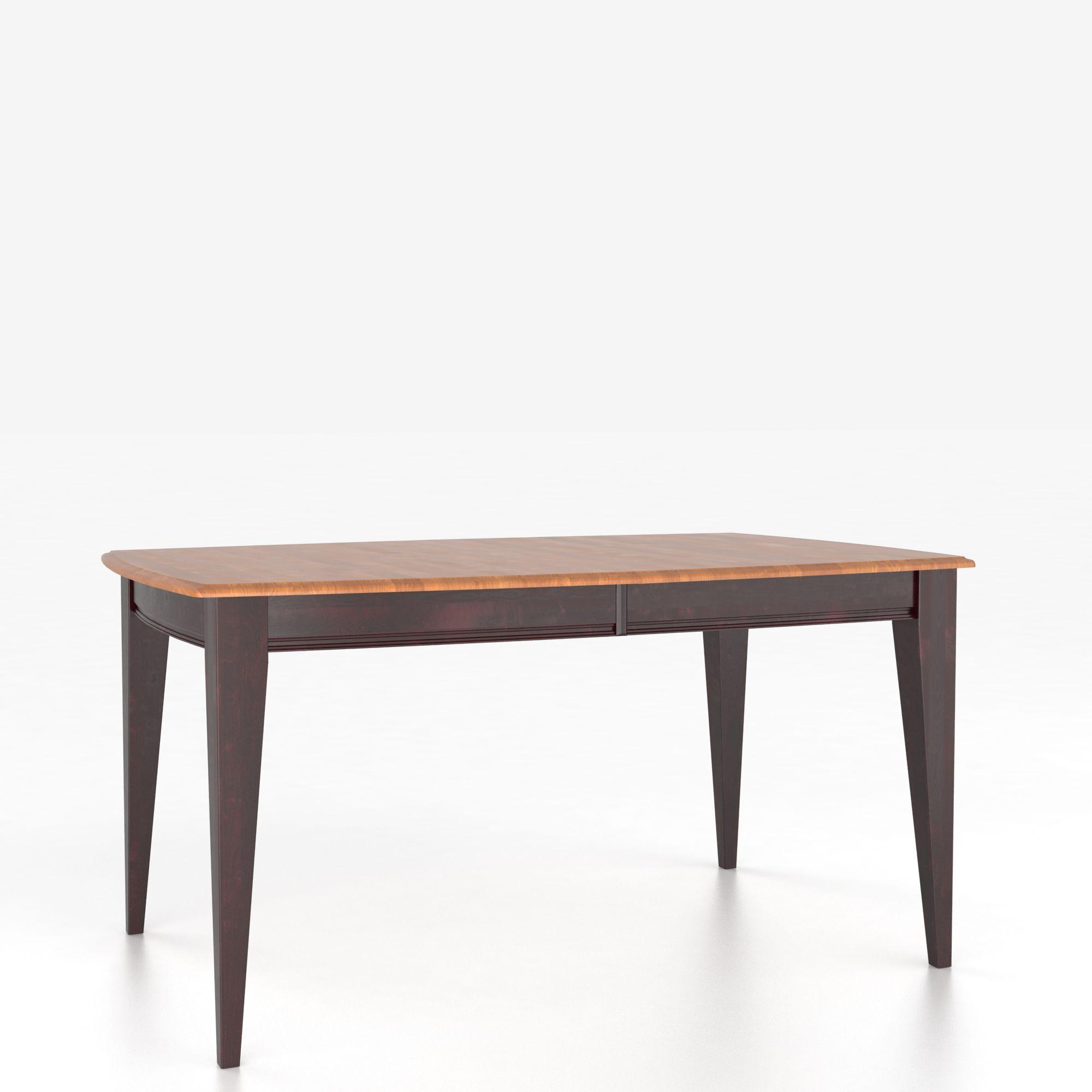 Custom Dining Tables <b>Customizable</b> Boat Shape Table w/ Legs by Canadel at Dinette Depot