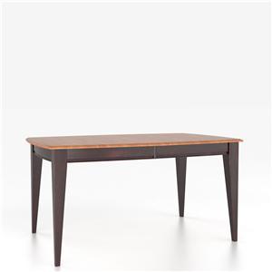 Canadel Custom Dining Tables <b>Customizable</b> Boat Shape Table w/ Legs