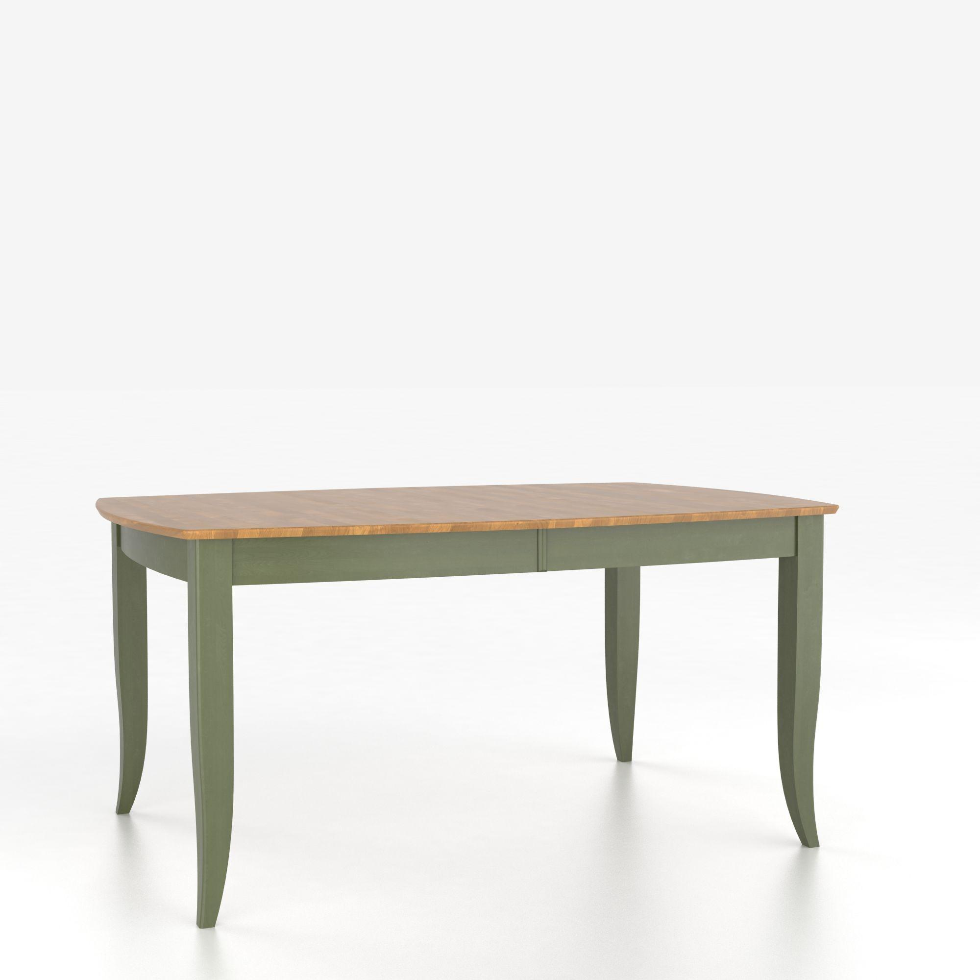 Custom Dining Tables Customizable Boat Shape Table with Legs by Canadel at Steger's Furniture