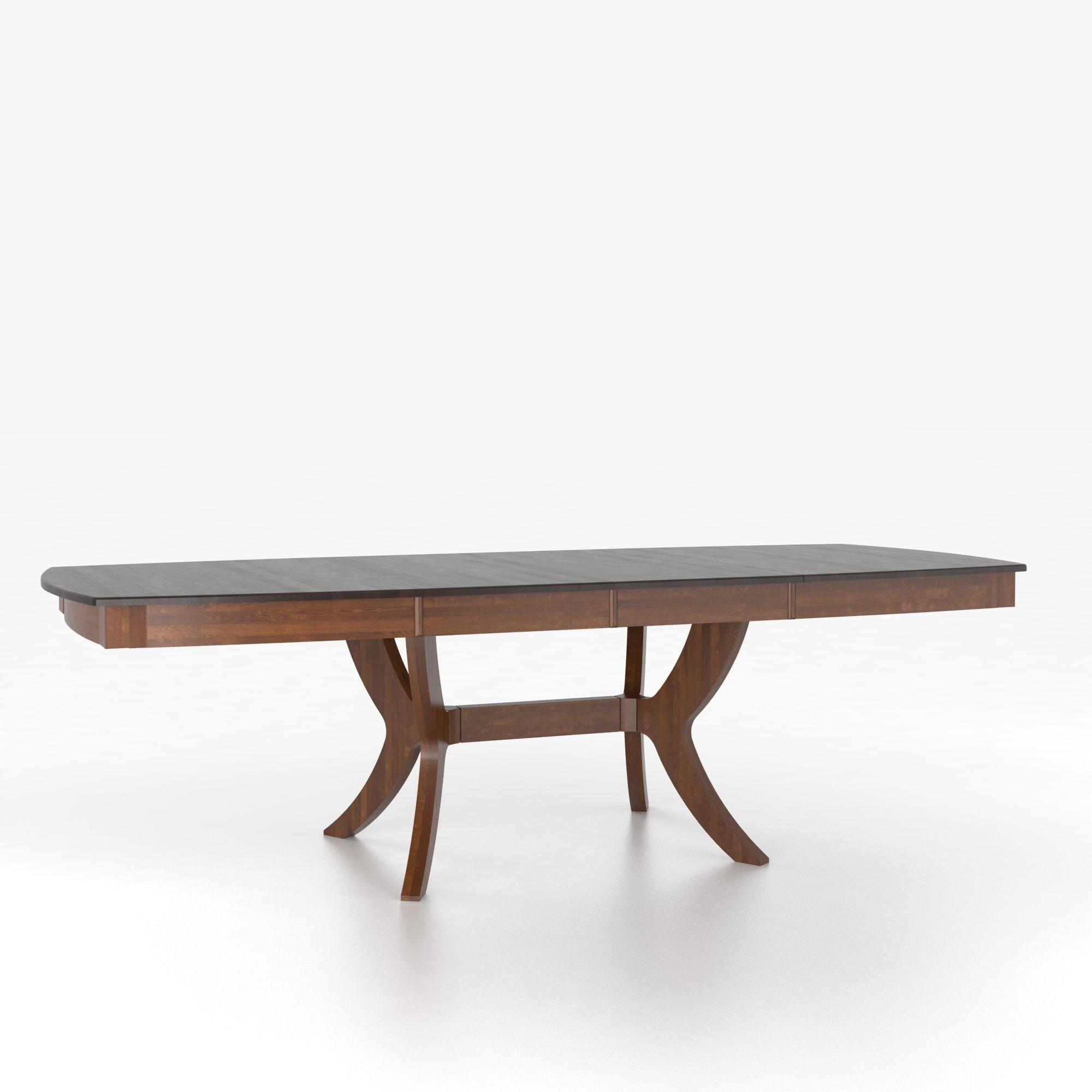 Custom Dining Tables Customizable Boat Shape Table with Pedestal by Canadel at Dinette Depot