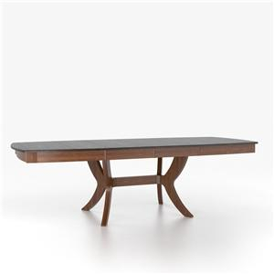 Canadel Custom Dining Tables Customizable Boat Shape Table with Pedestal