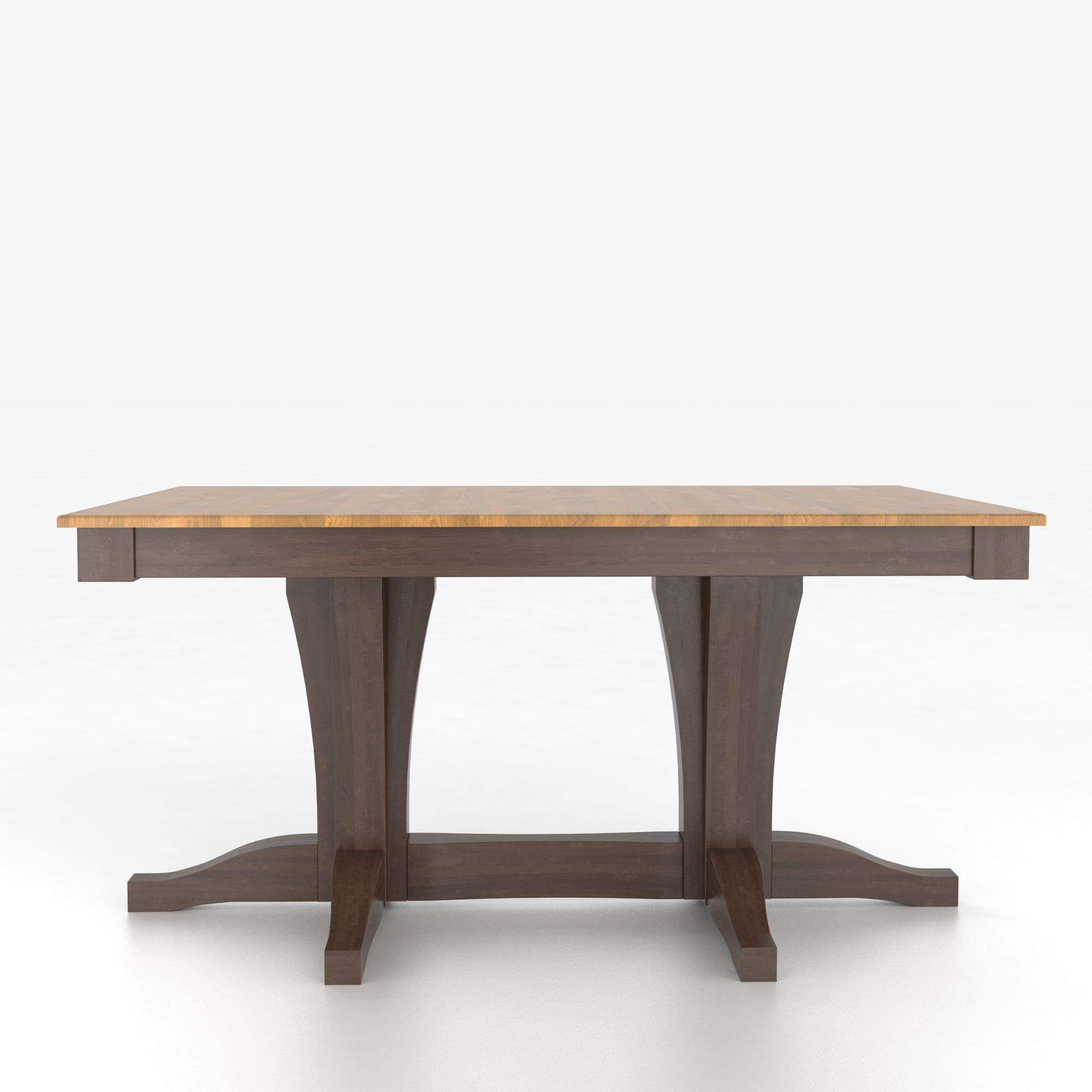 Custom Dining Tables Customizable Rectangular Table with Pedestal by Canadel at Dinette Depot