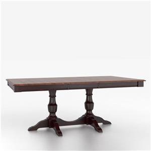 Customizable Rectangular Table with Pedestal