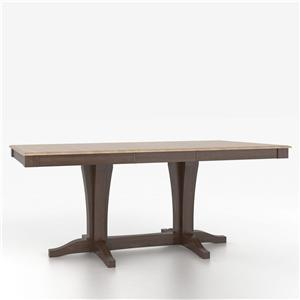 Cusotmizable Rectangular Counter Height Table with Pedestal