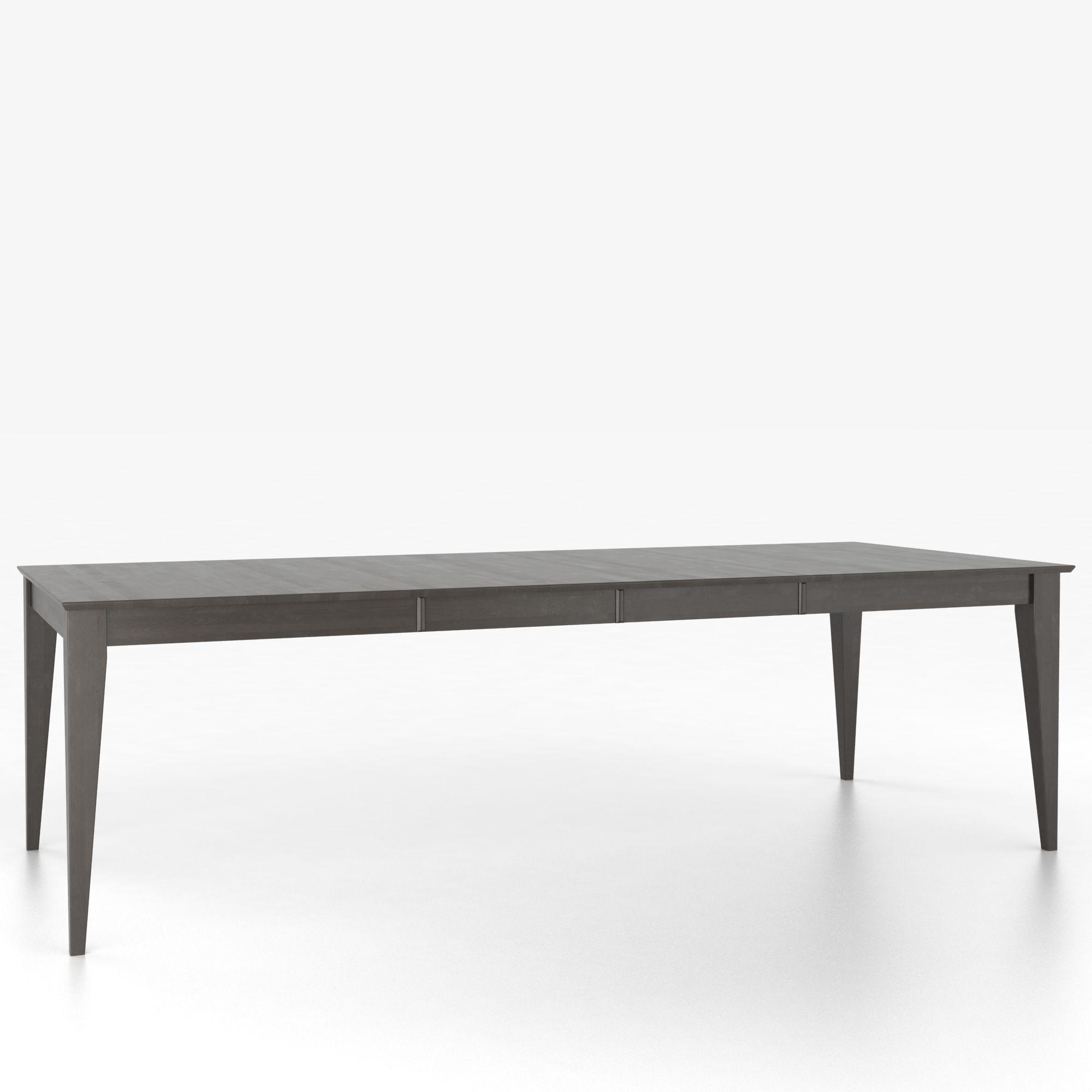 Custom Dining Tables Customizable Rectangular Table with Legs by Canadel at Dinette Depot