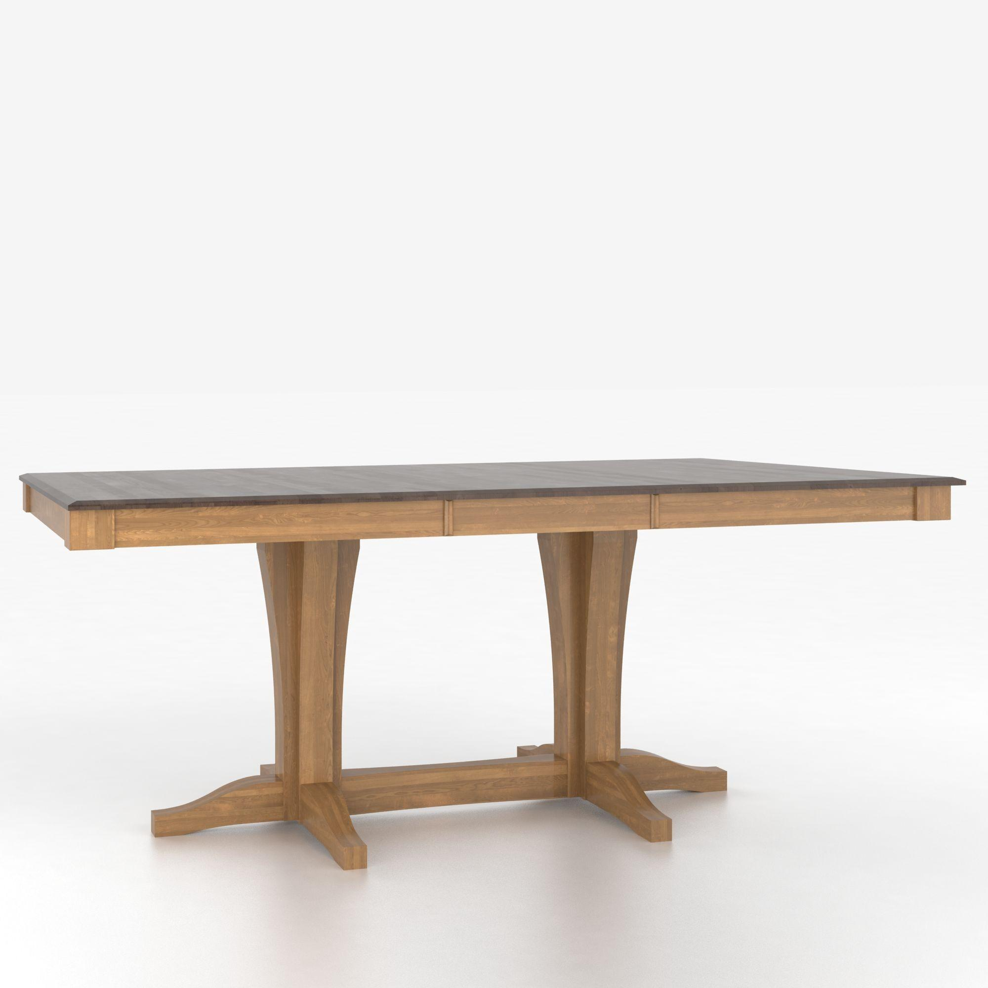 Custom Dining Tables Customizable Rectangular Table with Pedestal by Canadel at Gill Brothers Furniture