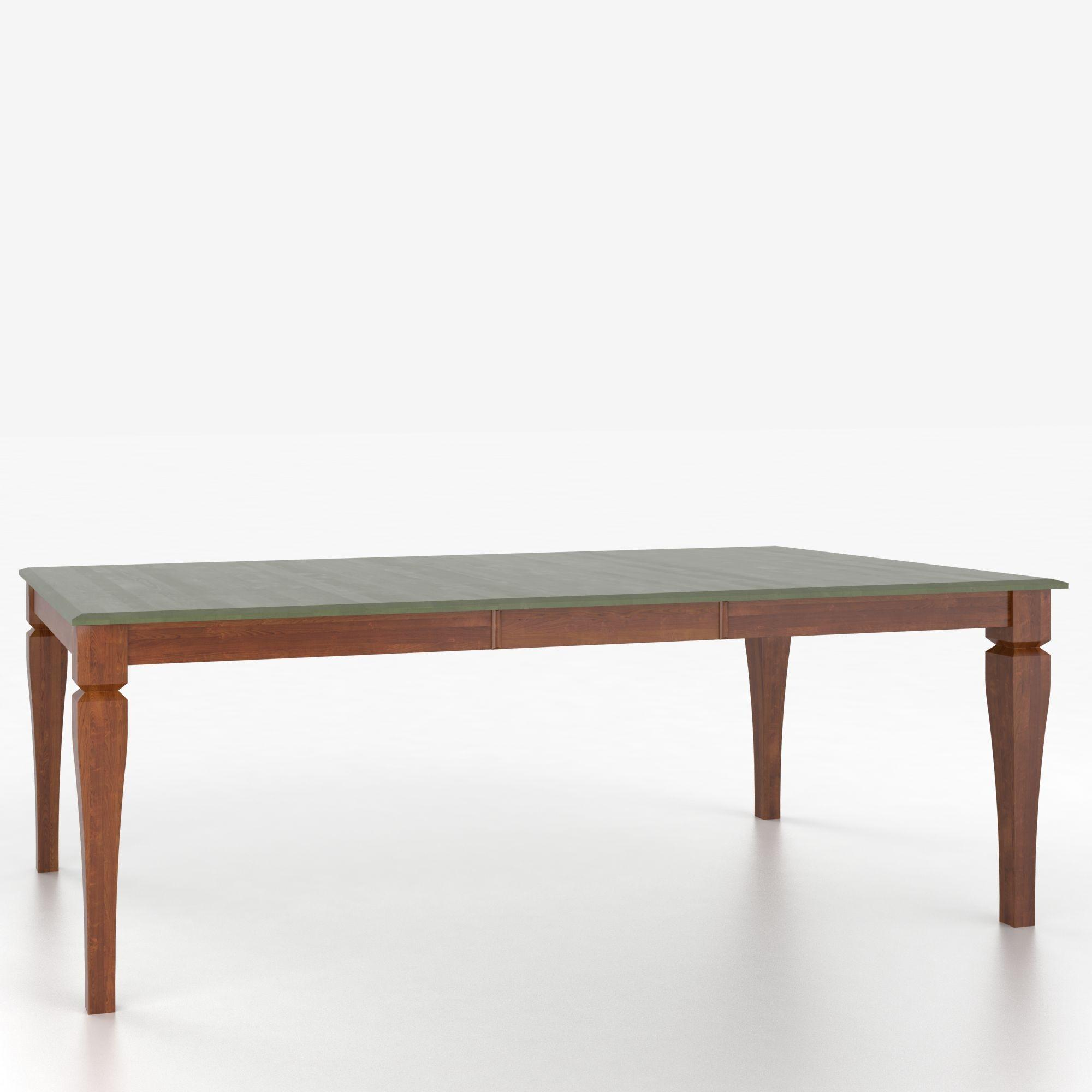 Custom Dining Tables Customizable Rectangular Table with Legs by Canadel at Jordan's Home Furnishings