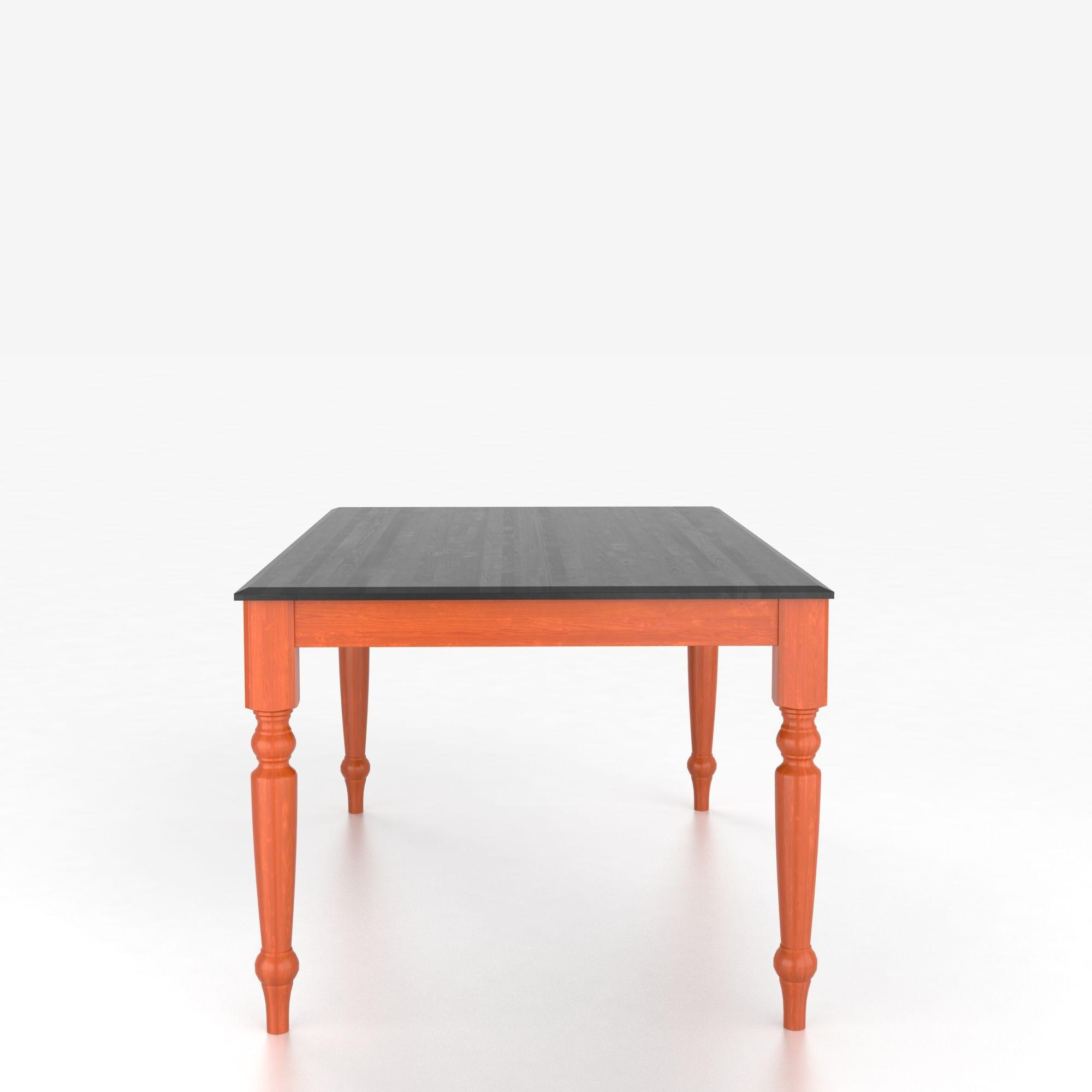 Custom Dining Tables Customizable Rectangular Table with Legs by Canadel at Steger's Furniture