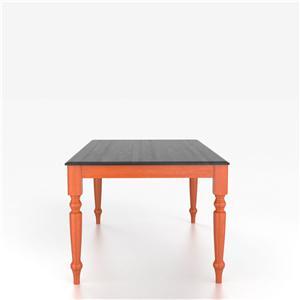 Customizable Rectangular Table with Legs