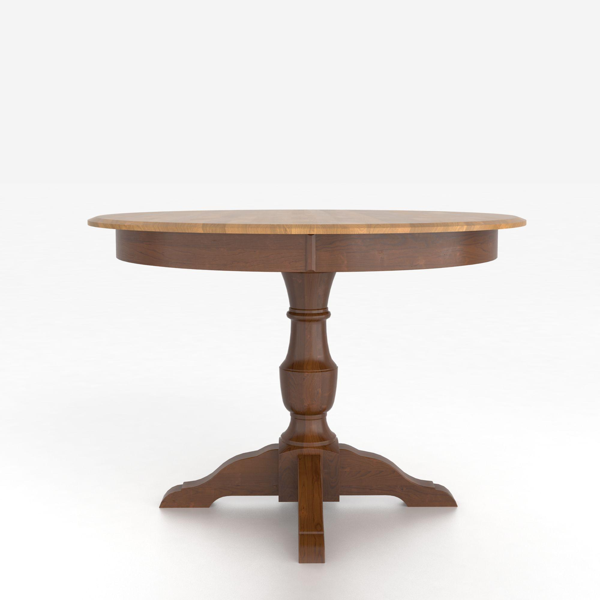 Custom Dining Tables Customizable Round Table with Pedestal by Canadel at Dinette Depot