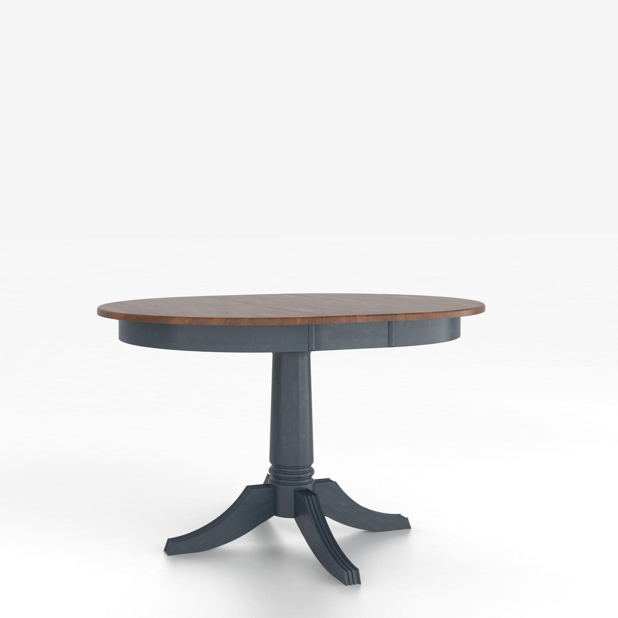 Custom Dining Tables <b>Customizable</b> Round Table w/ Pedestal by Canadel at Dinette Depot