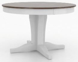 Custom Dining Tables Round Table with Pedestal by Canadel at Johnny Janosik