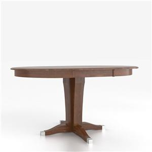 Customizable Round Counter Height Table with Pedestal