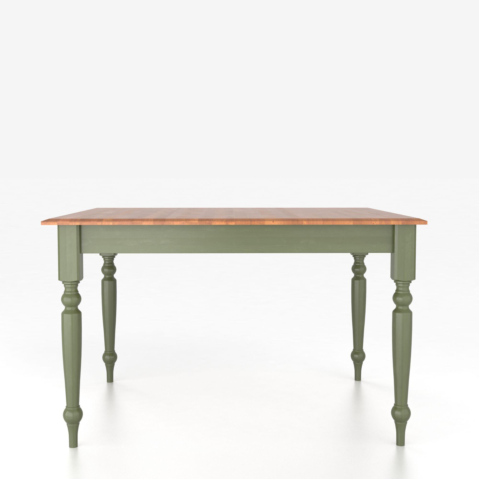 Custom Dining Tables <b>Customizable</b> Square Table with Legs by Canadel at Dinette Depot