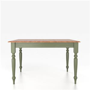 Canadel Custom Dining Tables <b>Customizable</b> Square Table with Legs