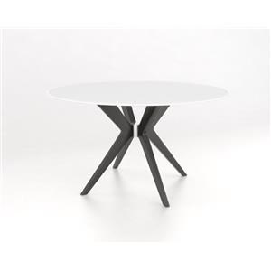 "Snow 54"" Glass Top Table"