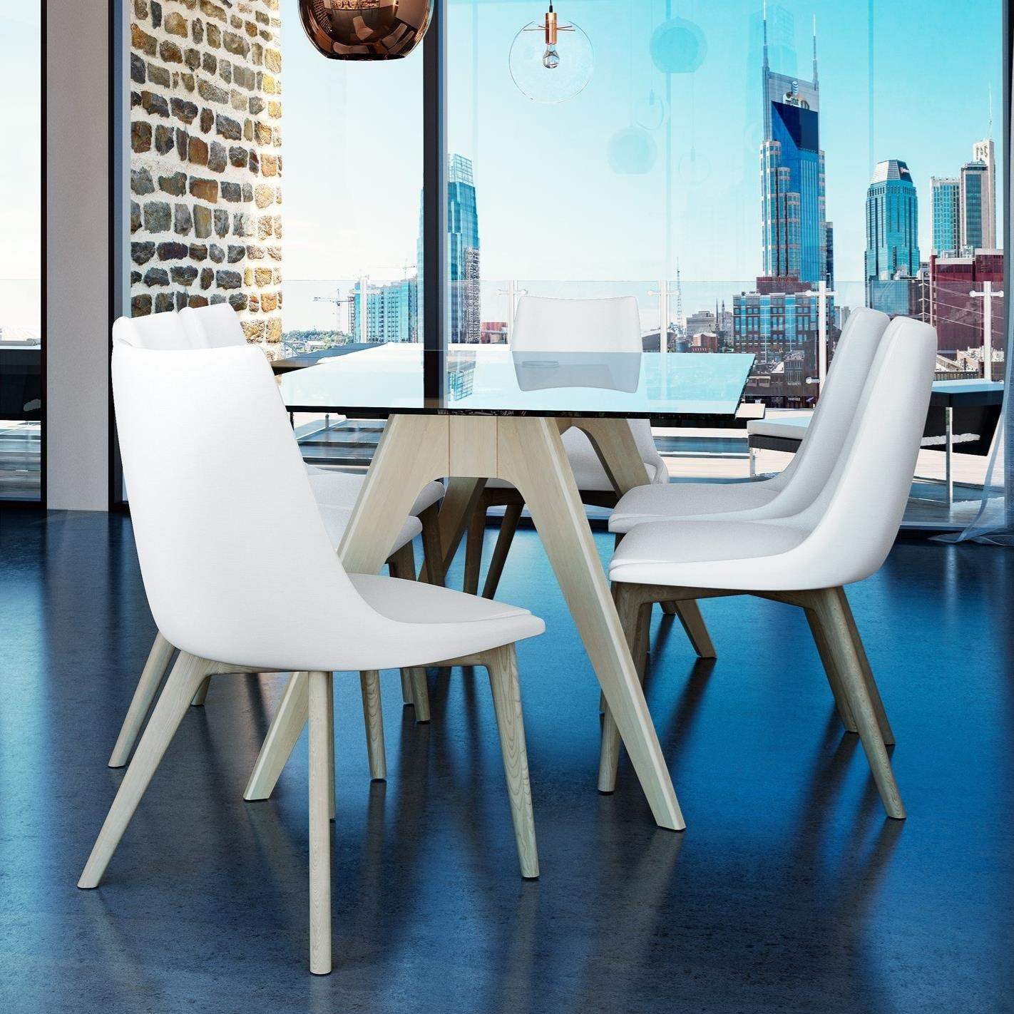 Downtown - Custom Dining Customizable Glass Top Table Set by Canadel at Saugerties Furniture Mart