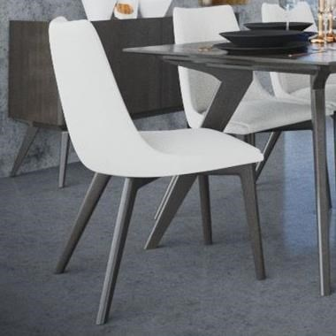 Downtown - Custom Dining Customizable Upholstered Side Chair by Canadel at Saugerties Furniture Mart