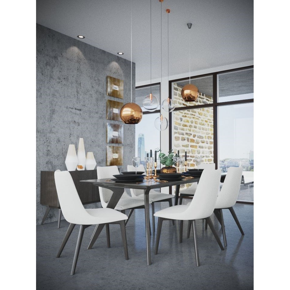 Downtown - Custom Dining Dining Room Group by Canadel at Saugerties Furniture Mart