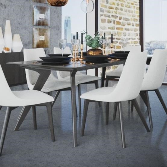 Downtown - Custom Dining Customizable Rectangular Table by Canadel at Saugerties Furniture Mart