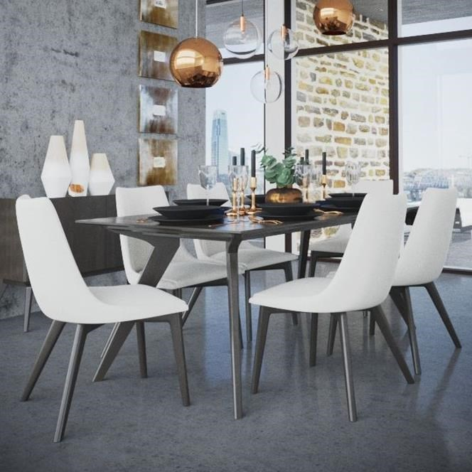 Downtown - Custom Dining Customizable Rectangular Table Set by Canadel at Saugerties Furniture Mart
