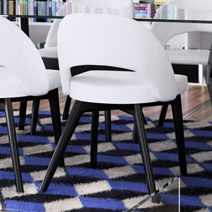 Contemporary Customizable Side Chair with Cut Out Back Detail