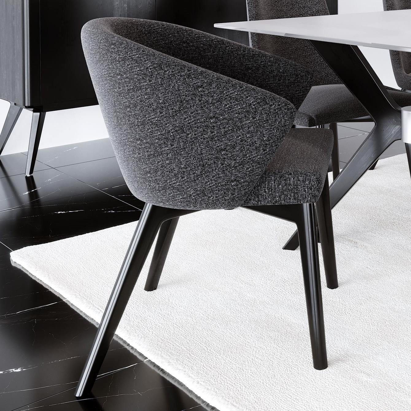 Downtown - Custom Dining Customizable Dining Arm Chair by Canadel at Steger's Furniture