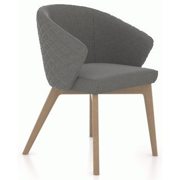 Downtown - Custom Dining Customizable Dining Arm Chair by Canadel at Jordan's Home Furnishings