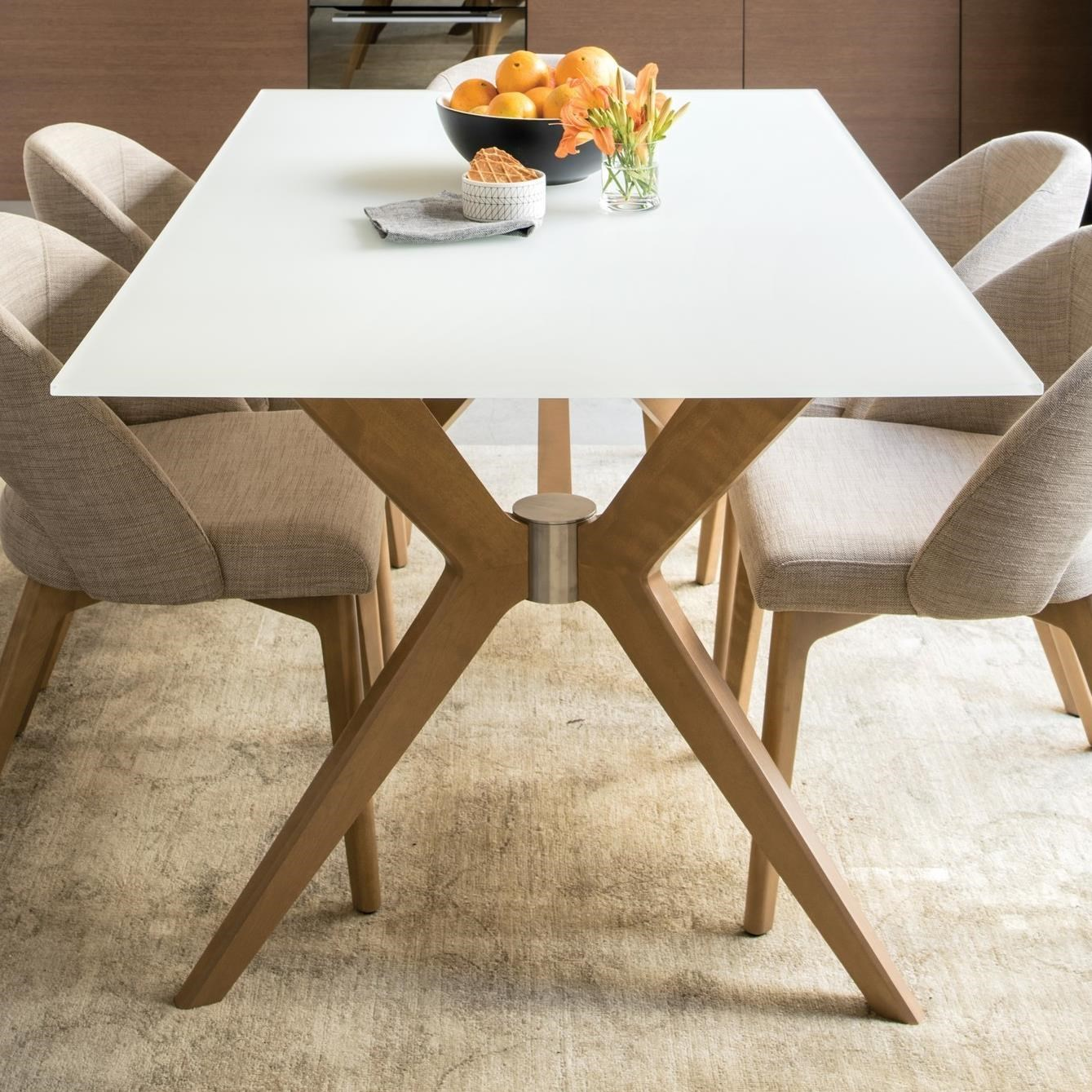 Downtown - Custom Dining Customizable Glass Top Dining Table by Canadel at Steger's Furniture