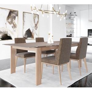 Customizable Glass Top Table Dining Set