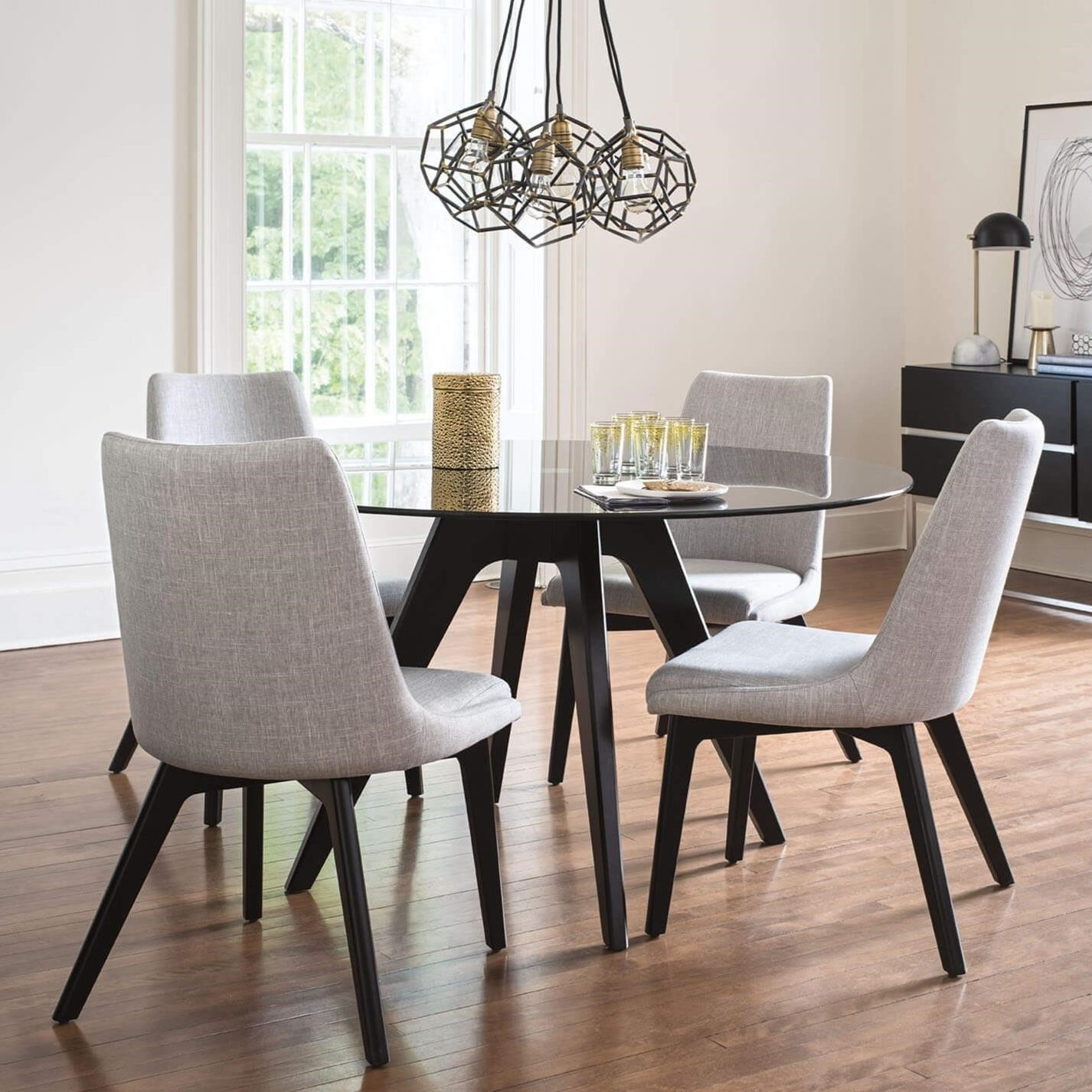 Downtown - Custom Dining Customizable Table Set by Canadel at Saugerties Furniture Mart