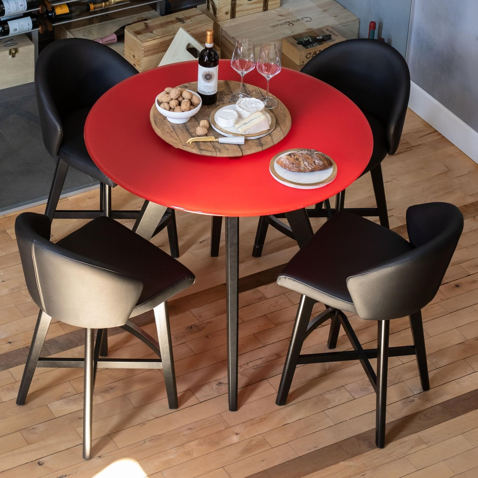 Downtown - Custom Dining Customizable Glass Top Counter Table Set by Canadel at Steger's Furniture