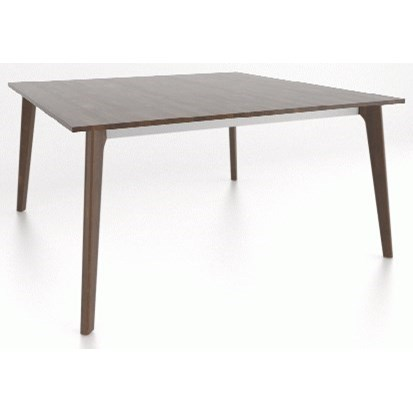 Downtown - Custom Dining Customizable Wood Top Dining Table by Canadel at Jordan's Home Furnishings
