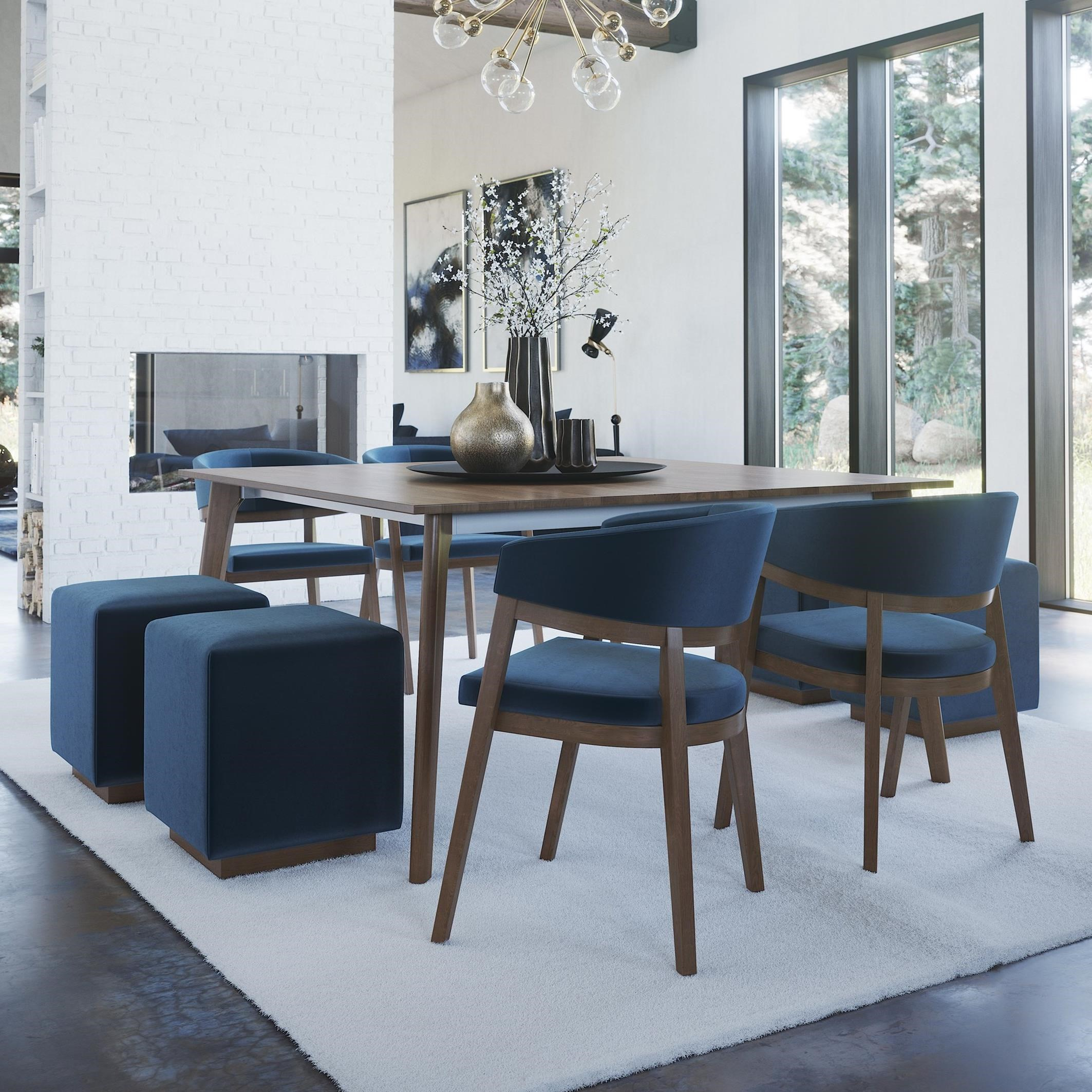 Downtown - Custom Dining Customizable Dining Set by Canadel at Williams & Kay